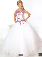 Wholesale Wedding Dress Size More - Latest girls pageant dress, delicate crystal decoration dress, more professional customized size and color