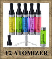 Wholesale Ego Ce9 T2 - T2 Atomizer 2.4ml Clearomizer e Cigarette e cig ego Tank e cig replaceable CE9 for ego battery evod