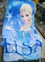 Wholesale Microfiber Fabric Blanket - 2014 NEW 100*130cm good quality Raschel Blanket frozen Dairy queen elsa adventures Frozen anime raschel blanket