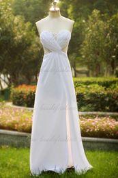 2019 pequenos vestidos de noiva marfim Imagem Real! Vestidos de casamento baratos querida a linha babados frisadas lantejoulas zipper alta qualidade elegante formal vestidos de noiva
