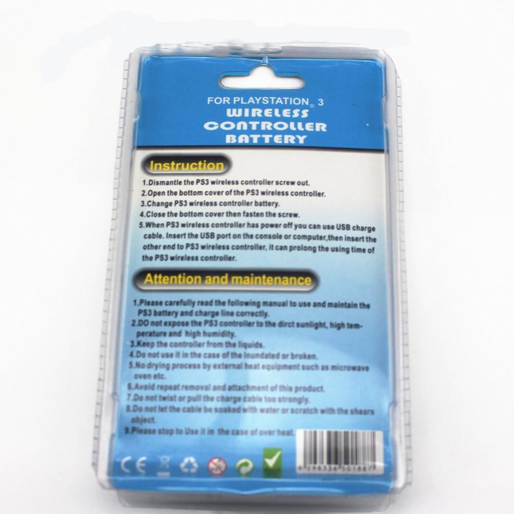 Batteria con cavo dati USB Cavo di alimentazione controller PS3