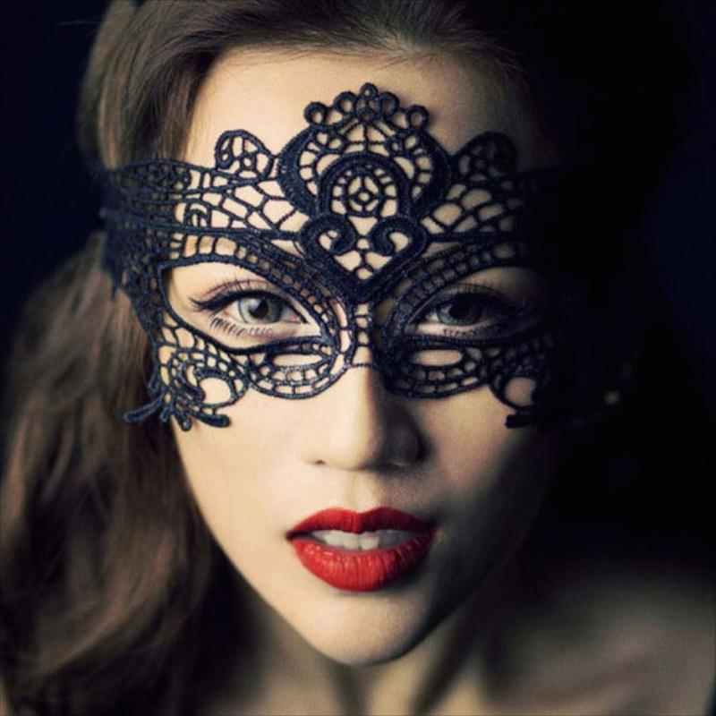 6 Design Masquerade Máscaras Lace Black Party Máscara de Renda Sexy Toy Para Senhoras Halloween Dance Party Máscara
