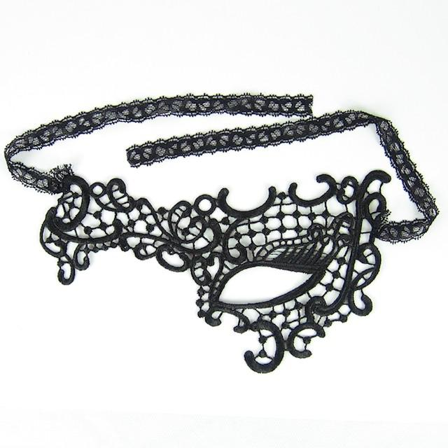 6 Design Masquerade Masks Lace Black Party Lace Mask Sexy Toy For Ladies Halloween Dance Party Mask