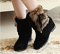 Wholesale Tall Wedge Boots Women - 2017 new High quality ! Australia classic tall women's popular snow boots winter women shoes fashion Maomao boots NXZ43