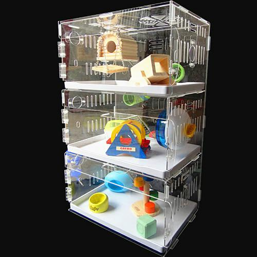 2019 Acrylic Hamster Cage Bear Gold Cage Quality Super
