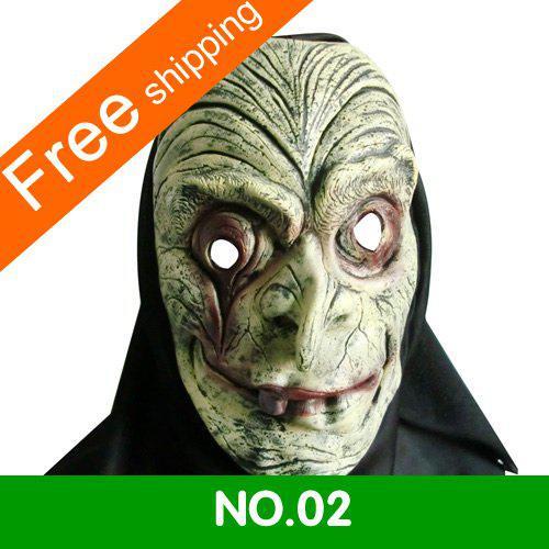 Soft Latex Christmas Masks Scary Halloween Masks Scary Zombie ...