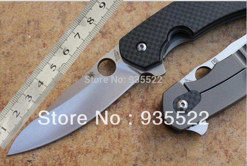 New Spyderco C156GPBN Brad Southard Flipper 3 46 CTS-204P Carpenter Steel  Blade Carbon Fiber Handle folding knife Free shipping