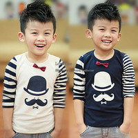 Wholesale Korean Kids Shirts - Korean Boys Shirt Cotton Shirts Child Shirt Kids Shirts Children Clothes Kids Clothing Boy Autumn Long Sleeve T Shirt Children T Shirts