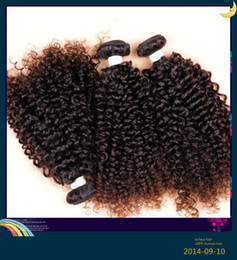 China Brazilian human hair extensions deep kinky curl hair weft natural black color dyeable unprocessed grade 6A hair 100g one bundle cheap black hair deep curls suppliers