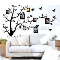 палки деревьев для стен оптовых-Семейное дерево наклейка удалить стены палку фото дерево наклейки Дерево памяти фоторамка Новый 2014 виниловые наклейки на стены
