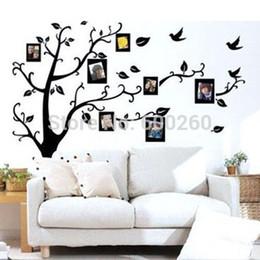 Палки деревьев для стен онлайн-Семейное дерево наклейка удалить стены палку фото дерево наклейки Дерево памяти фоторамка Новый 2014 виниловые наклейки на стены