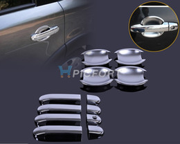 Wholesale Wholesale Chrome Door Handle Covers - New Chrome Door Handle Cover + Cup Bowl combo for Nissan Versa Tiida Latio 2007 2008 2009 2010 2011 2012- CA00537-CA00575