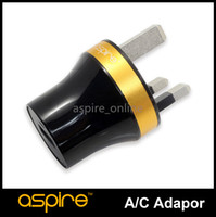 Wholesale usb cigarette adaptor - New Arrival Aspire UK USB Charger Electronic Cigarette Wall Charger Aspire Adaptor UK Plug Cheap E Cigarette Wall Adaptor Sale