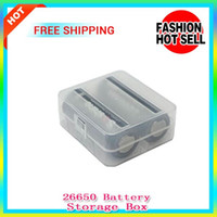 Wholesale Hard Plastic Storage Containers - 20pcs sale 26650 battery box Storage Case Container Hard Plastic Case Holder for Electronic Cigarette 26650 Batteries hold 2 26650 batteries