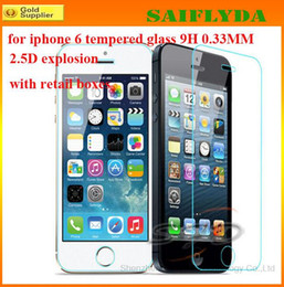 Wholesale S4 Screen Protection - Tempered Glass Protection Screen Guard for Samsung Galaxy s4 s5 Note 2 3 for iPhone 5 5s 5c FRONT Screen Protector for iphone 6 plus