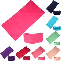 Wholesale Pure Color Cycling Bicycle Variety Seamless Tube Magic Headwear Solid Color Multifunction Scarves Riding Face Mask Hood