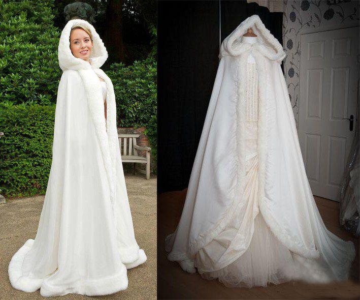 2017 2014 New Arrival Winter Wedding Cloak Cape Custom