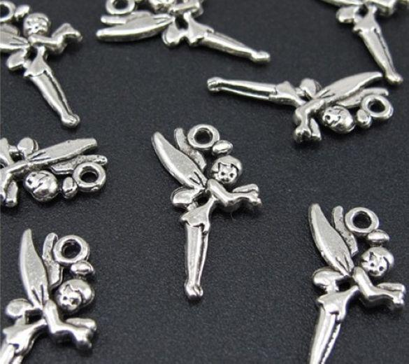 Free Ship Tibetan Silver Fairy Angel Charms Pendant Fit Bracelet 25x14mm
