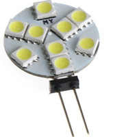 Wholesale Marine 12v Lighting - DC 12V G4 3W 9led 9smd Home Car RV Marine Boat LED Light Bulb Lamp 9 leds 5050 SMD 12V Free Shipping