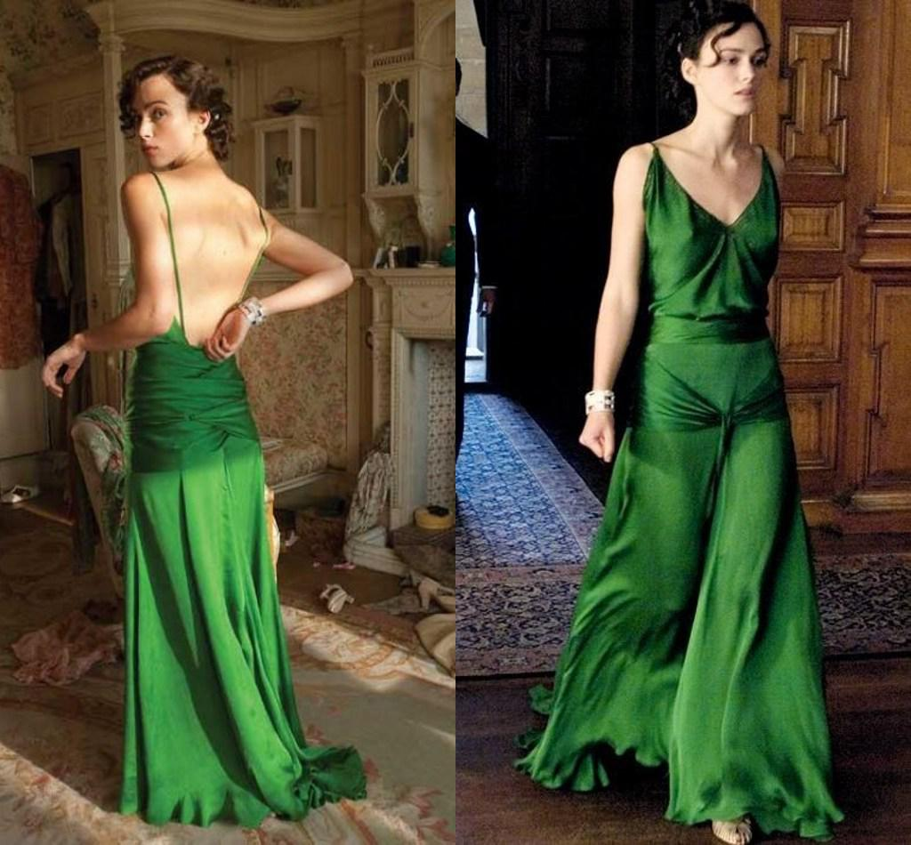 Vestito verde keira knightley espiazione