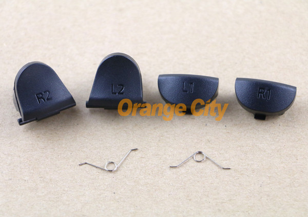 top popular L1 R1 L2 R2 Trigger Replacement Parts Buttons For PS4 Controller 30pcs lot=5pcs L1+5pcs L2+5pcs R1+5pcs R2+10pcs spring 2021