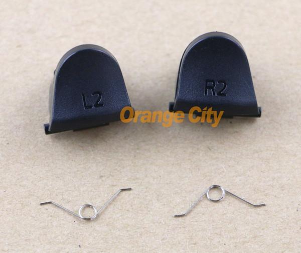 best selling L2 R2 Trigger Replacement Parts Buttons For PS4 Controller 20pcs lot=5pcs L2+5pcs R2+10pcs spring