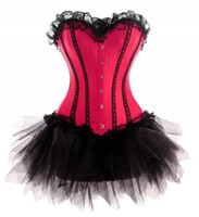 Wholesale Lace Corset Petticoat - Free shpping hot sale 2014 sexy corset underwear women sexy lingerie busier overbust waist cincher corset top lace bownkot petticoat LA036