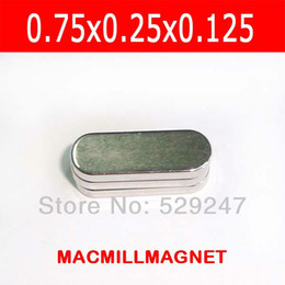 "magnets block NZ - Super Strong Rare Earth Neodymium Permanent Neo Magnetic Block, 10pcs pack oval-shaped magnets, Size: 0.75""x0.25""x0.125"""