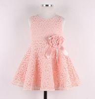 Wholesale Kids Noble Fairy Dress - fashion 2014 Summer New girls kids Children noble fairy bow princess lace dress high quality
