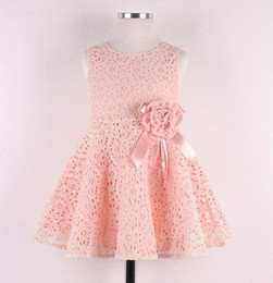 Wholesale Noble Child - fashion 2014 Summer New girls kids Children noble fairy bow princess lace dress high quality