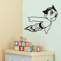 Wholesale wall art for boys - Vinyl Wall Art Stickers Astro Boy Cartoon Decals for Boys Room Decor