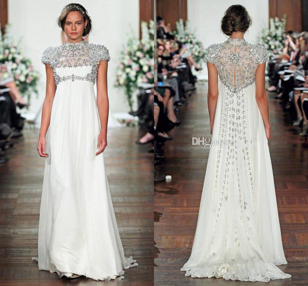 Affordable Maternity Wedding Gowns: Modest Jenny Packham Maternity Wedding Dresses High Neck