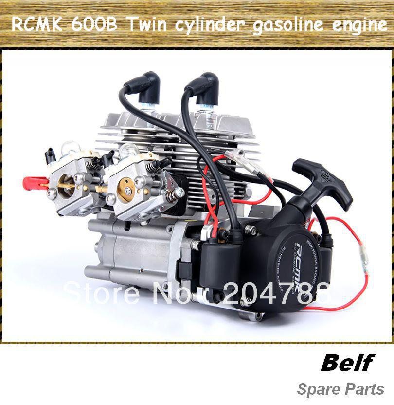 2018 1/5 Rc Car Parts, Rcmk 600b Twin Cylinder Gasoline Engine , By ...