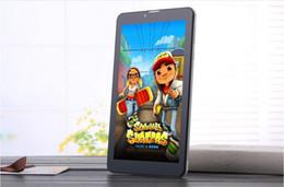 2019 smartphone en acier inoxydable 3G Phablet téléphone appelant Tablet PC MTK6572 Dual Core Android 4.4 capacitif tactile WCDMA GSM Bluetooth Caméra Dual Sim Card A1