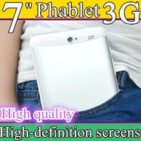 20pcs 3G Phablet Phone Calling Tablet PC MTK6572 Dual Core A...
