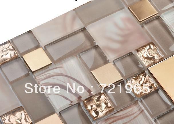 vetro miscela di metallo tessere di mosaico mosaico piastrelle ... - Piastrelle Cucina Mosaico