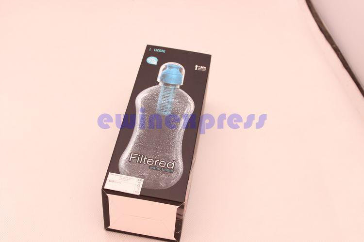 5X Novo 580 ML de Água Filtrada Melhor Chaleira Hidratante Filtro de Garrafa de Água Esporte Ao Ar Livre Frete grátis