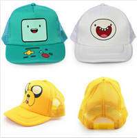 Wholesale Jake Caps - New Arrival 3 styles Adventure TIme Jake and Finn Beemo BMO Baseball Hat Sun Cap Retail 1pcs Free Shipping
