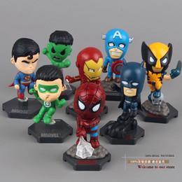 Wholesale Marvel Toys Mini - Marvel The Avengers Superheroes Captain American Hulk X-men Spiderman Mini PVC Action Figure Toys Dolls 8pcs set HRFG030