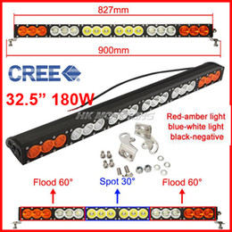 "Discount cree led lenses - EMS 32.5"" 180W CREE LED Driving Work Light Bar Offroad SUV ATV 4WD 4x4 Spot   Flood   Combo Beam 18000lm 9-70V Clea"