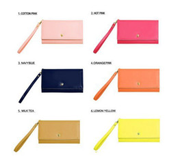 Wholesale Crown S4 - Wholesale-7 Color Women's Crown Donbook Wallet Intelligent Mobile Phone Package iPhone 5 S4 Note3 Card Bag Purse HG010#Free Shipping