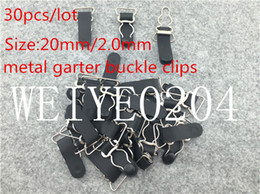 Wholesale Sexy Bras Buckles - 20mm buckle garter clips 30pcs lot black sexy Metal buckle Durable bra Straps brief adjustable metal suspenders garter buckle clips