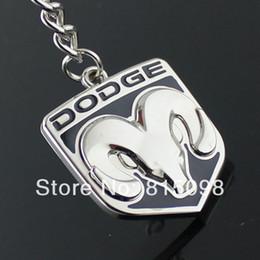 Wholesale Emblems Chain - Wholesale-Refires dodge keychain double faced dodge ram metal emblem key chain hangings