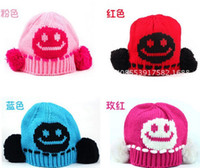 Wholesale Wool Hat Panda Ears - Baby Girl Boy Children Wool Cotton Smiling face Panda Winter Xmas Hat Ear Warmer 2-5T Beanie Hat Cap