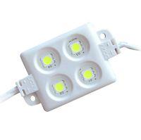 módulo led 12v ip65 resistente al agua al por mayor-ABS plástico 4 piezas 5050 SMD LED módulo luz LED luz 3M adhesivo espalda Cuerda impermeable IP65 de alto brillo