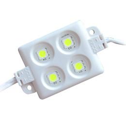светодиодные лампы для кемпинга Скидка ABS пластик 4 шт 5050 SMD LED модуль свет светодиодный свет 3M клей назад высокая яркость IP65 водонепроницаемый строка