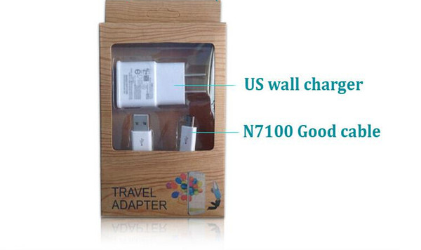 2 in 1 Wall Home 2A Charger Adapter Micro V8 USB Cable Cord for Samsung Galaxy S3 S4 i9500 i9300 Note 2 3 N7100