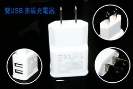 Wholesale Galaxy Tablet Mini - Fast Charge 2A Dual USB EU US Plug Home Wall Charger Adapter For IPhone 4s 5 5c 5s ipad mini for samsung Galaxy S3 S4 i9500 Note3 Tablet