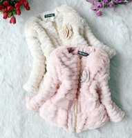 Wholesale hood pink - Wholesale -Children winter clothing Girls Fashion outfits Children Sweet flower outerwear Warm clothes 3p l