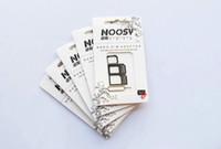 iphone 5s 4s adaptörü toptan satış-4 in 1 Nano Mikro Sim Kart Adaptörü, Noosy sim adaptörü için beyaz iPhone 4 4 s iPhone 5 5 s (500 adet) 100 takımgrup, Ucuz